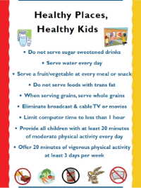 Healthy Places, Healthy Kids Poster
